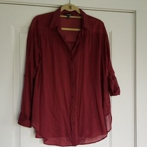 Express Lg sleeve button down blouse!